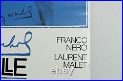 Original Vtg Mid Century Modern Andy Warhol Querelle Lithograph Print Poster Art