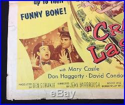Original vintage 1956 Bowery Boys Crashing Las Vegas 1/2 sheet poster