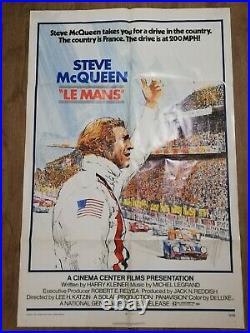Original vintage Steve McQueen Le Mans 1sheet poster