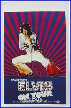 Original vintage poster ELVIS PRESLEY ON TOUR MGM Movie 72