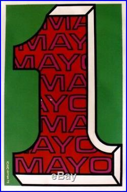 Original vintage poster FIRST OF MAY DAY CUBA FILM 1973