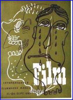 Original vintage poster INTERNAT. FILM FESTIVAL BASEL 1947