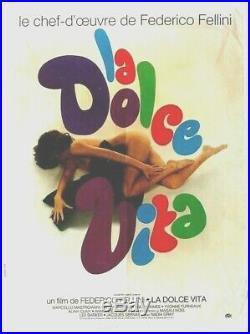 Original vintage poster LA DOLCE VITA FELLINI FILM c. 1964