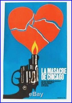 Original vintage poster LA MASACRE DE CHICAGO MOVIE CUBA