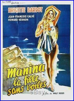 Original vintage poster MANINA (B. BARDOT) GIRL IN BIKINI 1953