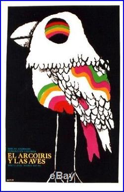 Original vintage poster RAINBOW BIRDS CUBAN MOVIE 1978