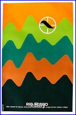 Original vintage poster RIO NEGRO BLACK RIVER CUBAN MOVIE 1977