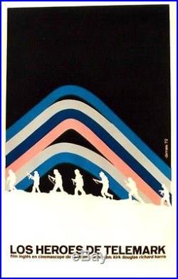 Original vintage poster TELEMARK HEROES MOVIE CUBA 1972
