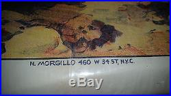 PASSION PLAY movie poster c1908 Vintage Jesus Christ stone lithograph Morgillo