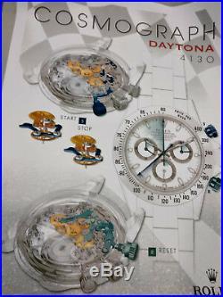 POSTER Rolex Daytona Vintage Picture Frame Dealer Wall 91 x 65 cm