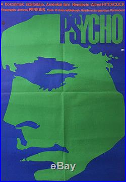 PSYCHO ALFRED HITCHCOCK Original Hungarian Vintage Movie Poster 1972