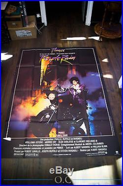 PURPLE RAIN Prince 4x6 Ft Vintage French Grande Movie Poster Original 1984