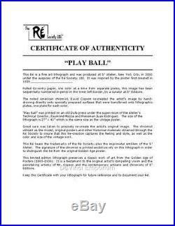 Play Ball with Babe Ruth Vintage Movie Poster Lithograph Hand Pulled Re Society