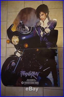 Prince Purple Rain Music Movie Standee Cardboard Display 1984 Vtg Promo Poster