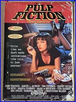 Pulp Fiction Original Vintage Film Poster Very Rare Not REPO