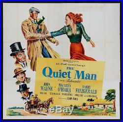 Quiet Man Vintage Movie Poster Six Sheet John Wayne 1952