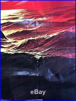 RARE 1978 Vintage JAWS 2 Original MOVIE Teaser POSTER Red Sea STYLE B 27x41 Film