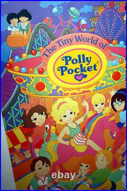 RARE AUTHENTIC VINTAGE 1992 POLLY POCKET 59X89cm POSTER ENGLAND NEW NOS