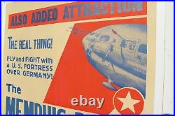 RARE Orig Vtg 1944 The MEMPHIS BELLE Movie Poster (with Pilot Robert Morgan)