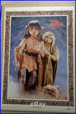 RARE Original Vintage The Dark Crystal Poster Jen Kira and Fizzgig 1982 Henson