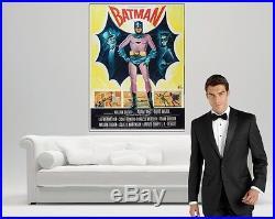 RARE VINTAGE BATMAN MOVIE Poster Print on GIANT CANVAS! 1966 Adam West