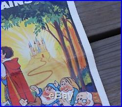 RARE Vintage 1973 Walt Disney Snow White French Dutch Movie Original Poster