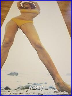 RARE Vintage Original Raquel Welch Life Size Poster by Terry O'Neill 24W x 59H