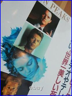 RARE vintage Japan TWIN PEAKS Fire Walk With Me DAVID LYNCH Poster DAVID BOWIE