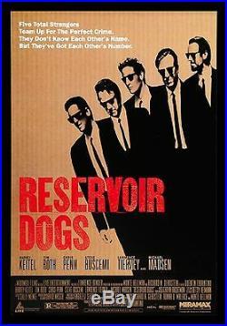 RESERVOIR DOGS CineMasterpieces VINTAGE ORIGINAL MOVIE POSTER 1992 TARANTINO