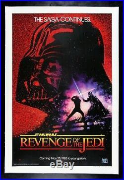 REVENGE OF THE JEDI CineMasterpieces STAR WARS VINTAGE NM C9 MOVIE POSTER 1983