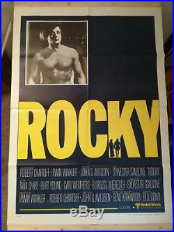 ROCKY 1976 Original Movie Poster 39x55 2Sh Italian RARE Stallone Vintage Boxe
