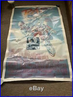 Rad Movie Poster Original One Sheet Rolled 1986 Vintage 27 x 41 Autographed