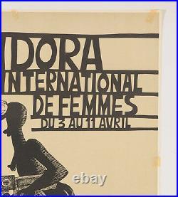 Rare French Feminists Movement Poster Musidora Bretecher