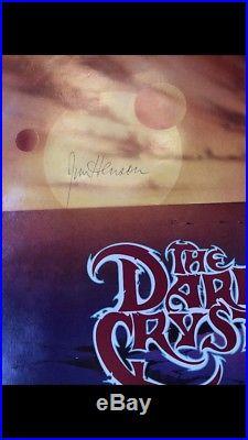 Rare Full Size Vintage Dark Crystal Signed Autographed Jim Henson Movie Poster
