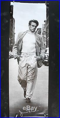Rare James Dean Walking In New York Vintage Original Big Door Size Pin Up Poster