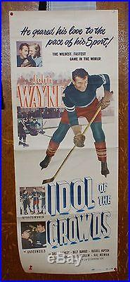 Rare John Wayne Poster Insert Idol Of The Crowds Vintage Movie Hard To Find