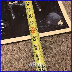 Rare STAR WARS Original 1977 Soundtrack Poster Death Star Millennium Falcon Vtg