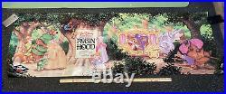 Rare Vintage Walt Disney Home Video Robin Hood 6x2 Poster Videodisc VHS Promo