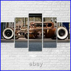 Rat Rod Old Vintage Car 5 Pieces Canvas Art Wall Art Picture Painting Home Decor
