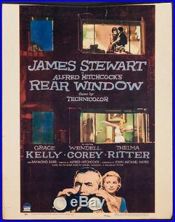 Rear Window Hitchcock Vintage Window Card Movie Poster