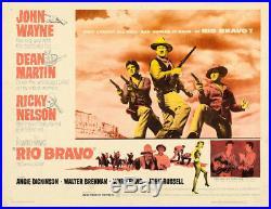 Rio Bravo ORIGINAL Vintage Half Sheet Movie Poster John Wayne 1959