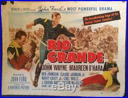 Rio Grande Vintage Half Sheet Western Movie Poster John Wayne