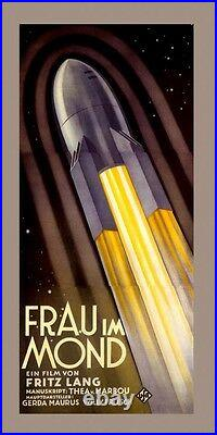 Rocket Ship Space Travel Film Movie Fritz Lang Vintage Poster Repo FREE S/H
