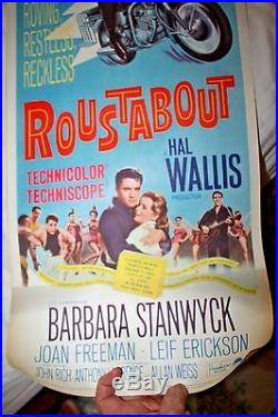 Roustabout Pristine Original Vintage Movie Poster Insert Elvis Presley 1964
