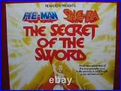 SHE-RA SECRET OF THE SWORD Australia Video Promo Poster He Man MOTU Rare Vintage