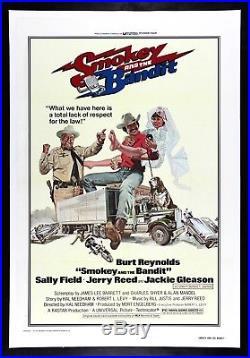 SMOKEY AND THE BANDIT CineMasterpieces 1977 ORIGINAL VINTAGE MOVIE POSTER