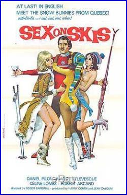 SNOW SKIING/SEXY NAKED BABES original 1972 movie poster SEX ON SKIS/APRES SKI
