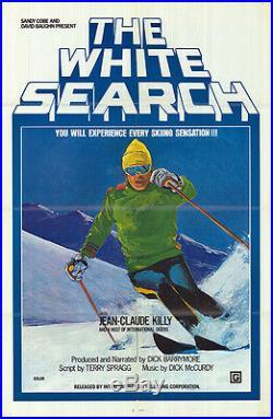 SNOW SKIING/WHITE SEARCH original 1975 original movie poster JEAN-CLAUDE KILLY