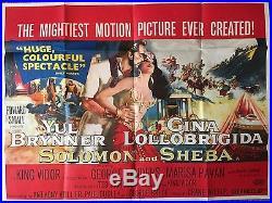 SOLOMAN AND SHEBA (1959) Original Vintage Film Poster UK Quad