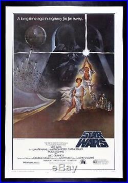 STAR WARS CineMasterpieces 1977 VINTAGE ORIGINAL MOVIE POSTER NM-M C9C10 LINEN